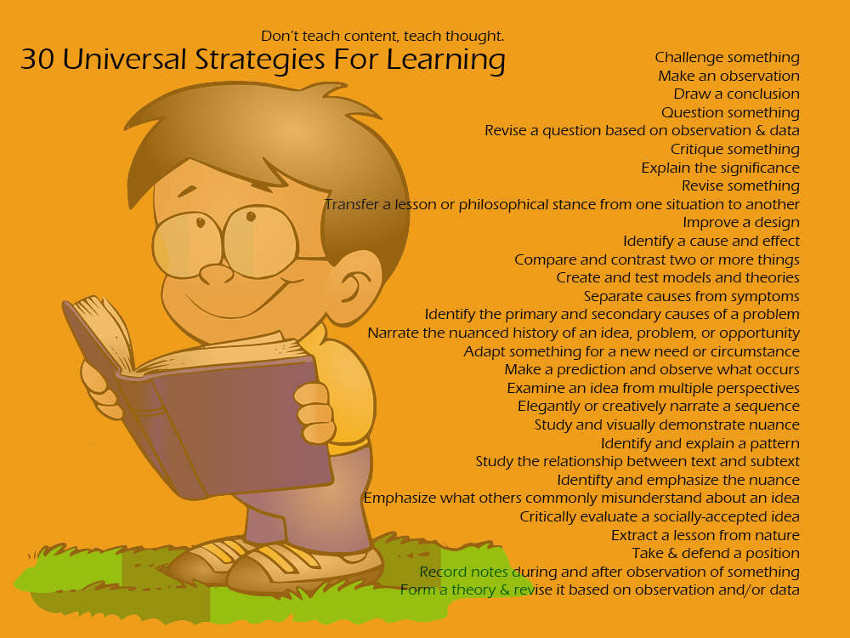 universal strategies for learning point