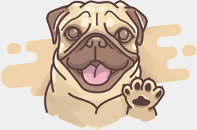 Puggy wishes you good luck